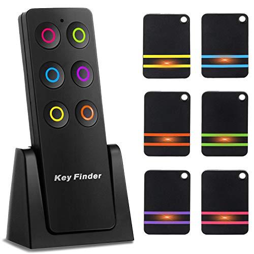 Schlüsselfinder Wireless Key Finder mit 6 Empfängern, RF Item LocatorSupport Fernbedienung Ganz Einfach Weg Um Ihren Verlorenen Dinges Zu Finden, EIN Durchdachtes Geschenk für Ihre Familie