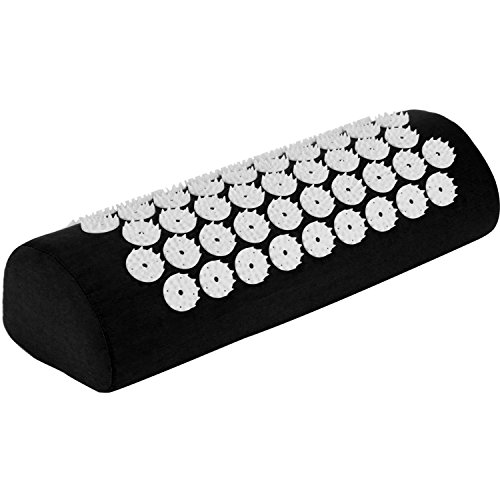 Belmalia Acupressure pillow for the shoulders and neck, bolster, massage cushion, relaxation cushion, Yantra, TCM Black