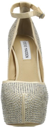 Steve Madden - Deeny-r, Scarpe col tacco con cinturino a T Donna Argento (Silber (Pewter Multi))