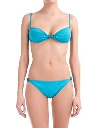 women'secret - Haut de bikini dos nu avec coussinets amovibles et nœud entre les bonnets. Bonnet B - Femme