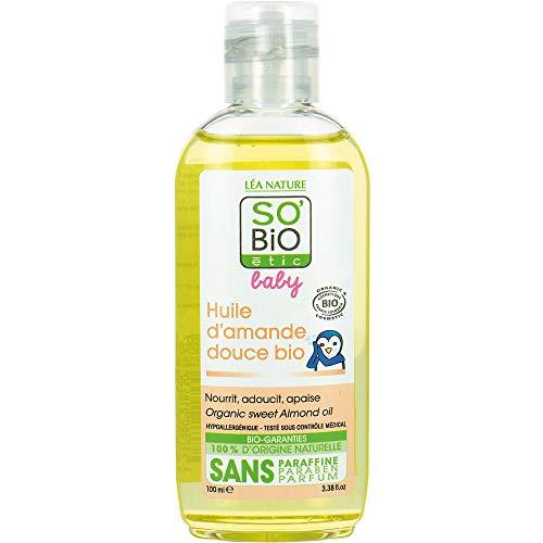 SO'BiO étic Aceite de almendra dulce orgánico hipoalergénico, 100 ml
