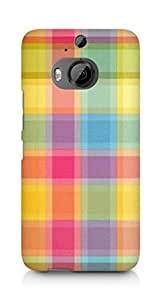 Amez designer printed 3d premium high quality back case cover for HTC One M9+ (Pattern 4)