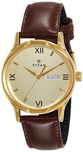 Titan Karishma Analog Champagne Dial Men's Watch - NH1580YL05 image