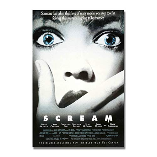 yhnjikl Poster Und Drucke Scream Classic Horror Movie Poster Leinwand Malerei Wohnkultur 40X60 cm Ohne Rahmen (Poster Horror Movie Classic)