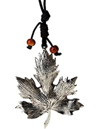 Segolike Stylish Vintage Classic Silver Elegant NaturalCharm Maple Leaf Pendant Necklace Accessories Sweater Chain...