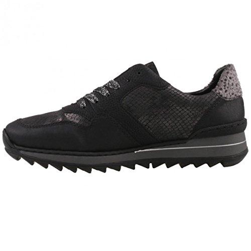 Rieker Damen M6902 Sneakers Schwarz (schwarz kombi 91)
