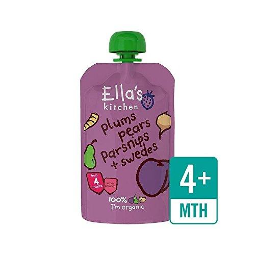 Ellas Küche Bio-Pflaumen, Birnen, Pastinaken & Swede Stufe 1 120G - Packung mit 2