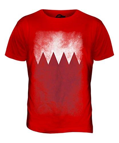 CandyMix Bahrain Verblichen Flagge Herren T Shirt Rot