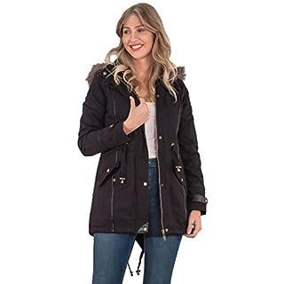 Love My Fashions Womens Hooded Jacket Ladies Fur Parka Brave Soul Outwear Winter Coat 2 Lower Pockets Plus Size