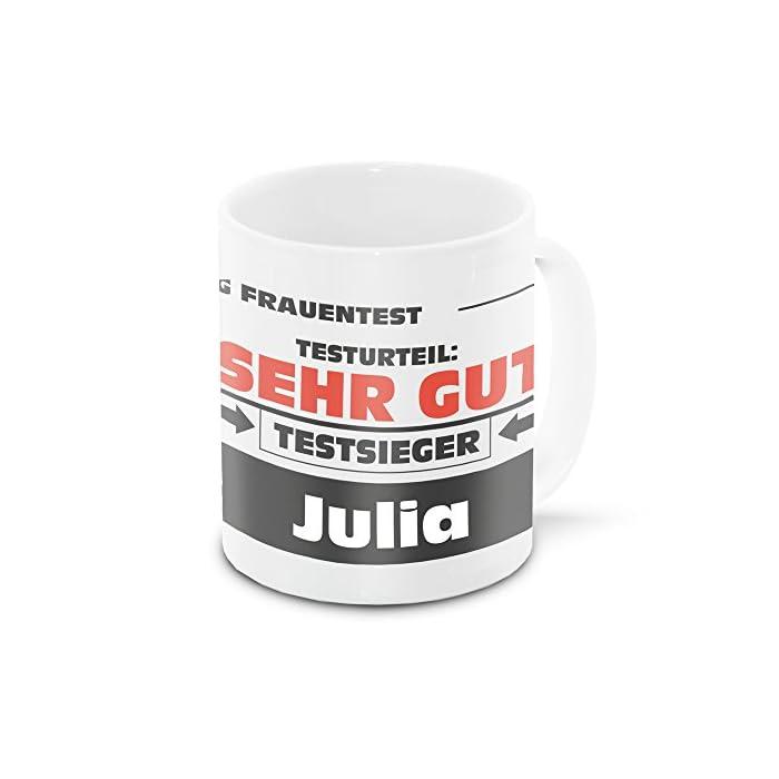 Namens-Tasse Julia mit Motiv Stiftung Frauentest, weiss | Freundschafts-Tasse - Namens-Tasse 1