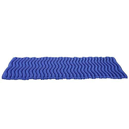 Aero Luftmatratze (Naroote Aufblasbare Isomatte im Freien, faltende Luftmatratze-Schlafenauflagen-Bettmatten im Freien(Zartes Meeresblau))