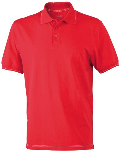 James & Nicholson Herren Poloshirt Red/White