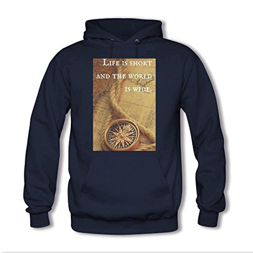 weileDIY motto DIY Custom Women's Classic Hoodie Sweatshirt Navy