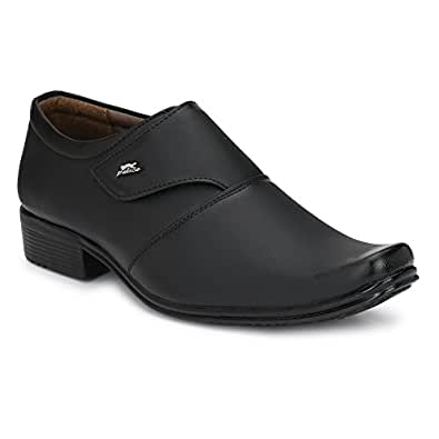 Fashion World Men S Faux Leather Black Formal Shoes 1031 Best