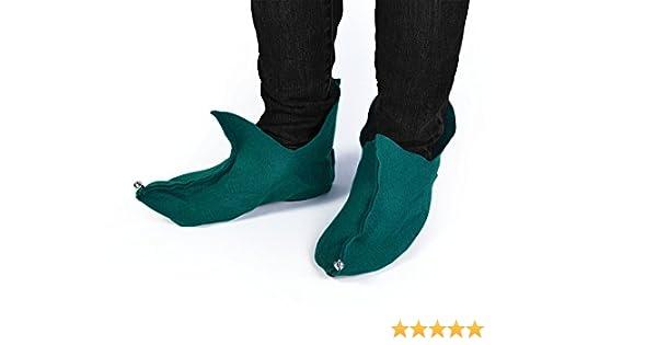 taille unique Bristol Novelty Ba514/elfe Pixie Chaussures en feutre Vert