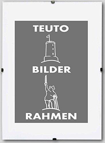 Teuto-Bilderrahmen Rahmenloser Bildhalter Celina 90 x 120 cm schlicht elegant 120x90 cm Mengenrabatt: Menge: 1 mit Kunststoffglas Antireflex 2mm