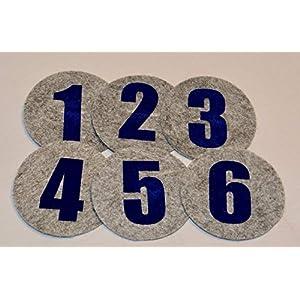 1 Zahl für die Geburtstagskrone Der Wollprinz in Blau