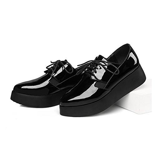 femmes plateforme plate-forme shoe/Chaussures plateforme/Lacé avec des chaussures sombres/Chaussures d'automne A
