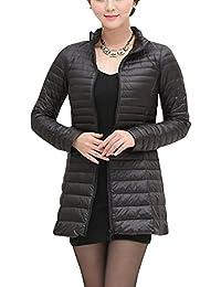 Kasen Giacca da Donna Lunga Piumino di Inverno Ultra Leggero Cappotto Parka  Giacche 0c1f505f66e