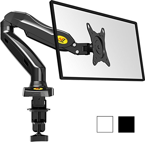 StandMounts Full Motion Desk Swivel Arm Mount for Computer Monitors 17'' - 27 LED LCD Flat Panel TVs from 4.4 lbs upto 14.3 lbs with Gas Spring F80