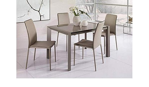Am Group Home Tavolo Allungabile Fino A 180 Cm Modello Axel Bianco Amazon It Casa E Cucina