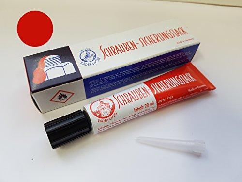 Bäder Lacke - Schraubensicherungslack, 20 ml Tube, rot (Schraubensicherungslack Roter)