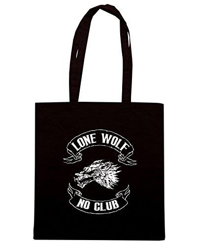 T-Shirtshock - Borsa Shopping TB0089 lone wolf no club Nero