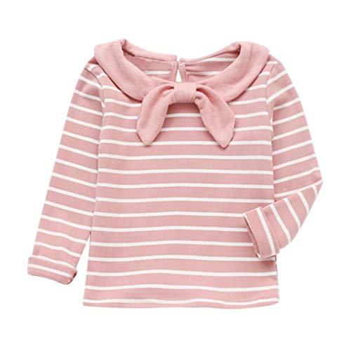 Covermason Babykleidung,Baby Mädchen Weich Lange Ärmel Gestreift Kleinkind Kinder Oberteile T-Shirt Kleider
