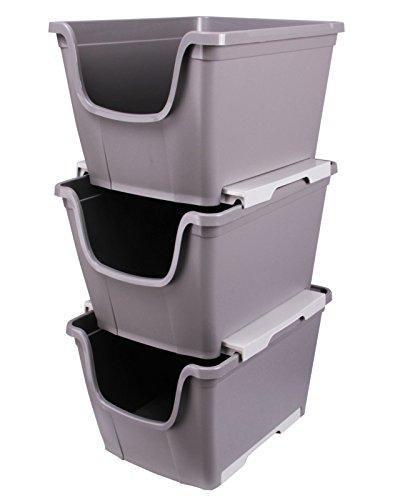 Ondis24 3X Aufbewahrungsbox Lagerbox Allzweckbox Sichtbox Multi Wow stapelbar & nestbar