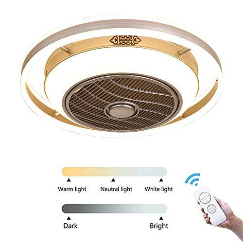 SDYBDSD LED Lámpara de Techo Moderna y Minimalista, Diseño Creativo del Ventilador,...