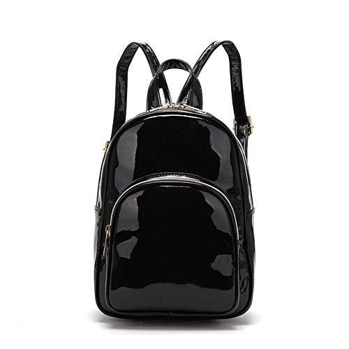 Pu Lack Mode Lässig Eine Schulter Tragbare Umhängetasche Handtaschen Vielseitig Einfache Schüler Schultasche Outdoor Sports Travel Rucksack, 3