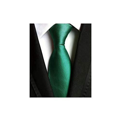 Dusk Fort Krawatten klassische Herren-Streifen-Hochzeit Krawatten Jacquard Woven Silk Männer Feste Bindung Tupfen, Luc-47 - Salbei Grüner Farbstoff