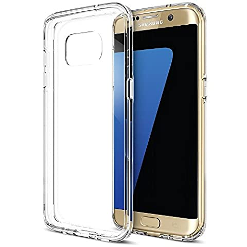 Samsung Galaxy S7 Edge Coque, iVoler [Liquid Crystal] Case Coque Housse Etui Ultra Hybrid TPU Silicone,[Extrêmement Mince Souple et Flexible] [Peau Transparente] [Shock-Absorption Bumper et Anti-Scratch Effacer Back] pour Samsung Galaxy S7 Edge (Bumper - HD Clair) -Garantie de Remplacement de 18 Mois