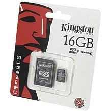 Acce2S - SCHEDA DI MEMORIA 16GB per SAMSUNG Galaxy J3 2016 MICRO SDHC Classe 10 Kingston