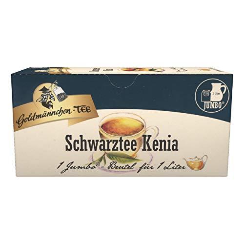 Goldmännchen Schwarzer Tee Kenia, Schwarztee, Keniatee, Teegetränk, 20 Jumbo-Teebeutel, X03182