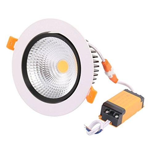 sourcing map AC85-240V 10W Plafonnier LED COB Plafonnier LED Downlight encastré commande LED