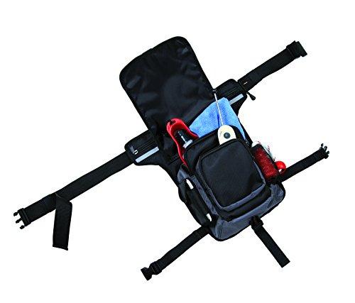 Trixie 28863 Hüfttasche, 2-fach Fixierung, Gurt 57 - 138 cm, schwarz/grau