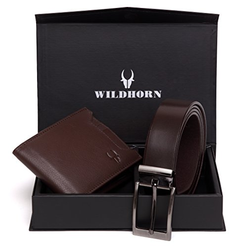 wildhorn men brown genuine leather wallet gift set combo WildHorn Men Brown Genuine Leather Wallet Gift Set Combo 4100KgplepL
