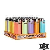 50 Accendini Bic Mini A Pietra Vari colori