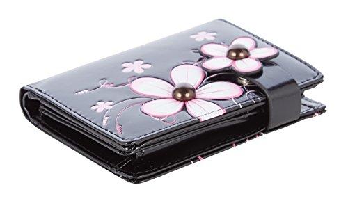 Shagwear portafoglio per giovani donne Small Purse : Diversi colori e design: fiorito rosa/ Funky Flower