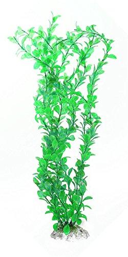"""FUNDIY 18"""" Green Plastic Pet Fish Tank Turtle Tank Plant Aquarium Aquatic Grass Decor Landscape Ornament 2"""