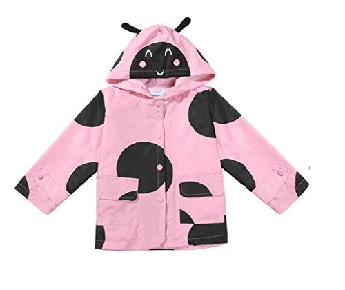 Koo-T Girls Rain Coat Jacket Summer Hood Windbreaker Spring Mac Raincoat Age 1 to 6 Years Pink/Blue/Green/Purple/Red