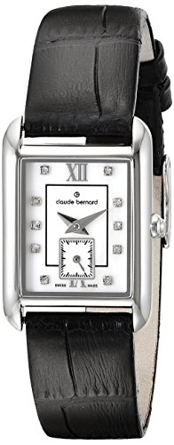 Claude Bernard Women's 25003 3 NAPN Ladies Fashion Analog Display Swiss Quartz Black Watch