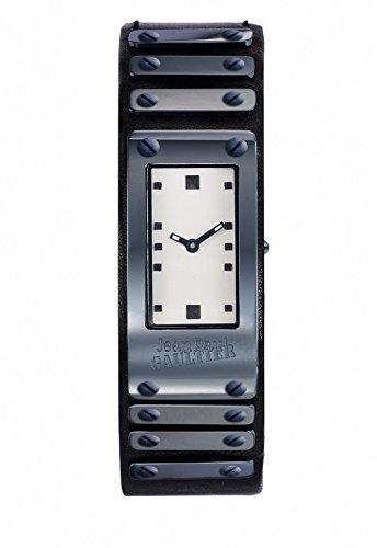 Montre Mixte - Jean Paul Gaultier - Factory - Acier PVD - Bracelet Cuir Noir - 40*21mm - 8503804