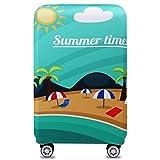 Bestja Elastisch Kofferhülle Kofferschutzhülle Gepäck Cover Reisekoffer Hülle Koffer Schutzhülle Luggage Cover mit Reißverschluss (Summer Time, XL)