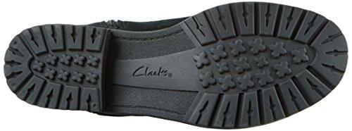 Clarks 261215924 - Stivali Alti da Donna Nero (Black Suede)