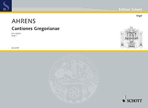 Cantiones Gregorianae 1 Orgue