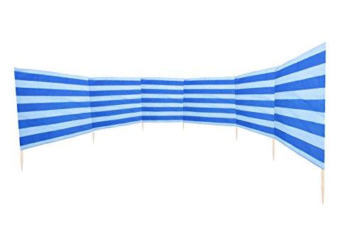 Windschutz 8 m lang mit Marine-Strandtasche oder Strandbeutel - Sonnenhut GRATIS dazu (Modell 1, WindSchutz 8 m DUBL)