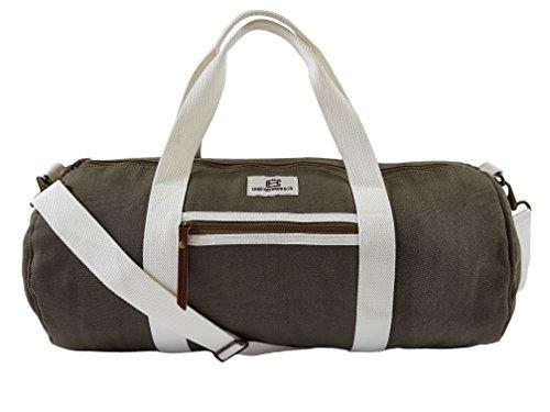 Chad Hayward Reise Gym Sport Taschen – Olive Canvas Barrel Duffle Holdall – 34L