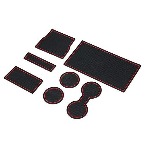 KKmoon 7 stücke Auto Armlehne Aufbewahrungsbox Anti Rutsch Pad Slot Mittelkonsole Matte für Tesla Modell 3
